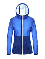 cheap -Women's Waterproof Hiking Jacket Hiking Skin Jacket Outdoor Waterproof Lightweight Breathable Quick Dry Windbreaker Top Full Length Visible Zipper Fishing Climbing Running White Black Yellow Blue Pink