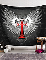 cheap -Wall Tapestry Art Decor Blanket Curtain Hanging Home Bedroom Living Room Decoration Polyester Cross Badge Wings