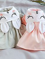 cheap -Dog Cat Dress Rabbit / Bunny Animal Elegant Adorable Cute Dailywear Casual / Daily Dog Clothes Puppy Clothes Dog Outfits Breathable Pink Gray Costume for Girl and Boy Dog Polyester XS S M L XL