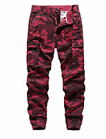 cheap -Men's Hiking Pants Trousers Hiking Cargo Pants Camo Outdoor Breathable Anti-tear Multi-Pockets Wear Resistance Cotton Bottoms Army Green Burgundy Khaki Dark Blue Hunting Fishing Climbing 28 29 30 31