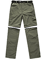 cheap -Men's Hiking Pants Trousers Convertible Pants / Zip Off Pants Solid Color Outdoor Windproof Breathable Quick Dry Wear Resistance Bottoms Army Green Dark Gray Khaki Hunting Fishing Climbing S M L XL