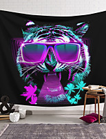 cheap -Wall Tapestry Art Decor Blanket Curtain Hanging Home Bedroom Living Room Decoration Polyester DJ Sunglasses Tiger Cool Trend