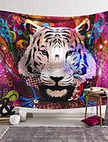 cheap -Wall Tapestry Art Decor Blanket Curtain Hanging Home Bedroom Living Room Decoration Polyester Tiger Head