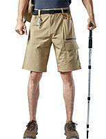 cheap -Men's Hiking Shorts Hiking Cargo Shorts Outdoor Waterproof Breathable Comfortable Sweat-Wicking Nylon Elastane Shorts Black Grey Khaki Green Climbing Camping / Hiking / Caving Traveling S M L XL XXL