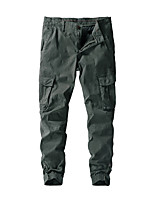cheap -Men's Hiking Pants Trousers Hiking Cargo Pants Solid Color Winter Outdoor Breathable Thick Anti-tear Multi-Pockets Cotton Bottoms Black Army Green Khaki Dark Blue Hunting Fishing Climbing 29 30 36 38