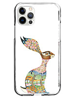 cheap -Rabbit / Bunny Animal Case For Apple iPhone 12 iPhone 11 iPhone 12 Pro Max Unique Design Protective Case Shockproof Pattern Back Cover TPU
