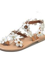 cheap -Women's Sandals Boho Bohemia Beach Flat Heel Open Toe Flat Sandals Casual Daily Walking Shoes PU dark brown