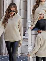 cheap -Women's Sweatshirt Sweater Pullover Half Zip Stand Collar Sport Athleisure Sweatshirt Top Long Sleeve Breathable Soft Comfortable Everyday Use Casual Daily Outdoor / Winter