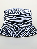 cheap -Adults' Sun Hat Bucket Hat Packable Quick Dry Breathable Spring, Fall, Winter, Summer Cotton Hat for Athleisure Fishing Camping & Hiking / Animal / Zebra