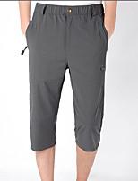 cheap -Men's Hiking Shorts Solid Color Summer Outdoor Breathable Quick Dry Stretchy Wear Resistance Elastane Capri Pants Black Army Green Grey Khaki Hunting Fishing Climbing L XL XXL XXXL 4XL