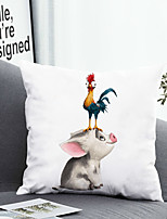 cheap -1 Pc Cushion Cover with or without Pillow Insert Double Side Print 3D Animal Pig 38x38cm / 45x45cm Polyester