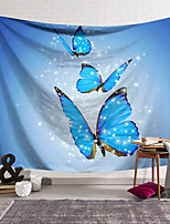 cheap -Wall Tapestry Art Decor Blanket Curtain Hanging Home Bedroom Living Room Decoration Polyester Blue Butterfly