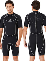 cheap -Dive&Sail Men's Shorty Wetsuit 1.5mm SCR Neoprene Diving Suit Quick Dry Anatomic Design Short Sleeve Back Zip Patchwork Summer / Stretchy