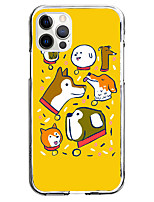 cheap -Dog Animal Case For Apple iPhone 12 iPhone 11 iPhone 12 Pro Max Unique Design Protective Case Shockproof Back Cover TPU