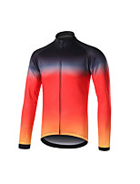 cheap -Men's Long Sleeve Downhill Jersey Black / Red Blue+Pink Bike Jersey Sports Clothing Apparel