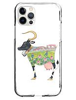 cheap -Cattle Animal Case For Apple iPhone 12 iPhone 11 iPhone 12 Pro Max Unique Design Protective Case Shockproof Pattern Back Cover TPU