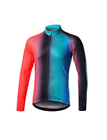 cheap -Men's Long Sleeve Downhill Jersey Black / Orange Blue+Pink Bike Jersey Sports Clothing Apparel