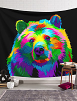 cheap -Wall Tapestry Art Decor Blanket Curtain Hanging Home Bedroom Living Room Decoration Polyester Color Brown Bear