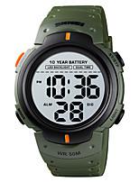 cheap -SKMEI Men's Sport Watch Digital Sporty Stylish Calendar / date / day Digital Black Green / One Year / Silicone
