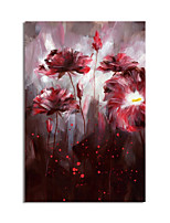 cheap -Oil Painting Handmade Abstract Flowers Painting Hand Painted Wall Art Home Decoration Decor Stretched Frame Ready to Hang