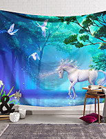 cheap -Wall Tapestry Art Decor Blanket Curtain Hanging Home Bedroom Living Room Decoration Polyester Unicorn Green