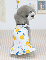 cheap -Dog Cat Dress Pineapple Fruit Basic Adorable Cute Dailywear Casual / Daily Dog Clothes Puppy Clothes Dog Outfits Breathable Yellow Pink Costume for Girl and Boy Dog Cotton XS S M L XL