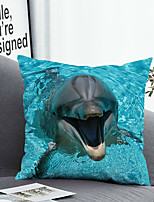 cheap -1 Pc Cushion Cover with or without Pillow Insert Double Side Print 3D Dolphin Animal 38x38cm / 45x45cm Polyester