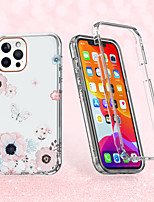 cheap -Case For Apple iPhone 12 / iPhone 11 / iPhone 12 Pro Max Shockproof / Pattern Full Body Cases Butterfly / Flower TPU