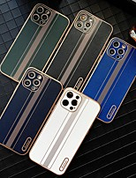 cheap -Business affairs Solid Colored Leather Case For Apple iPhone 12 12mini 12Pro max iPhone 11 11Pro 11Pro max iPhone X XS XSMAX Shockproof Back Cover Lines Waves