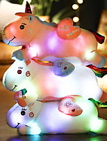 cheap -50cm Love glowing unicorn stuffed animals plush toy with LED light chritsmas gifts for kids adults