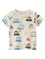 cheap -Kids Boys' T shirt Tee Graphic Print Short Sleeve Streetwear Beige