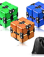 cheap -Speed Cube Set 3 pcs Magic Cube IQ Cube Infinity Cubes Magic Cube Sensory Fidget Toy Puzzle Cube Stress and Anxiety Relief Office Desk Toys Decompression Toys Kid's Adults' Toy Gift