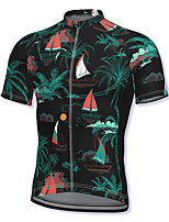 cheap -21Grams Men's Short Sleeve Cycling Jersey Black Bike Top Mountain Bike MTB Road Bike Cycling Breathable Quick Dry Sports Clothing Apparel / Athleisure