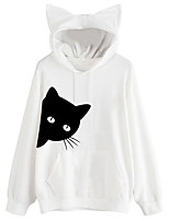 cheap -Inspired by Cat Cosplay Hoodie Spandex Cat Ear For Women's
