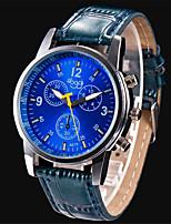 cheap -Women's Quartz Watches Quartz Stylish Fashion Large Dial Analog - Digital Black Blue Brown / PU Leather