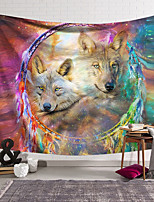 cheap -Wall Tapestry Art Decor Blanket Curtain Hanging Home Bedroom Living Room Decoration Polyester Two Wolves