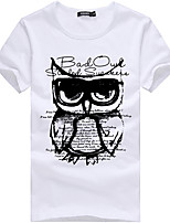 cheap -Men's Unisex T shirt Hot Stamping Animal Plus Size Print Short Sleeve Daily Tops 100% Cotton Basic Casual White Gray