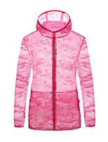 cheap -Women's Hiking Skin Jacket Hiking Windbreaker Outdoor Camo Packable Waterproof Lightweight UV Sun Protection Outerwear Jacket Top Elastane Full Length Visible Zipper Fishing Climbing Running Purple
