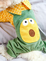 cheap -Dog Cat Jumpsuit Avocado Elegant Adorable Cute Dailywear Casual / Daily Dog Clothes Puppy Clothes Dog Outfits Breathable Green Costume for Girl and Boy Dog Polyester XS S M L XL