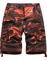cheap -Men's Hiking Shorts Hiking Cargo Shorts Camo Outdoor Breathable Multi-Pockets Wear Resistance Scratch Resistant Cotton Bottoms Purple Red Army Green Blue Khaki Hunting Fishing Climbing 30 36 38 32 34
