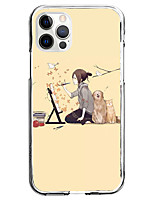cheap -Characters Case For Apple iPhone 12 iPhone 11 iPhone 12 Pro Max Unique Design Protective Case Pattern Back Cover TPU