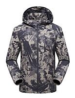 cheap -Men's Hiking Jacket Hiking Windbreaker Outdoor Camo Waterproof Lightweight Windproof Breathable Jacket Top Fishing Climbing Running Black Blue Green / Warm / Quick Dry