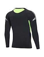 cheap -Men's Long Sleeve Cycling Jersey Black Green Bike Top Road Bike Cycling Waterproof Sports Clothing Apparel