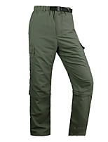 cheap -Men's Hiking Pants Trousers Convertible Pants / Zip Off Pants Solid Color Summer Outdoor Lightweight Breathable Comfort Quick Dry Bottoms Army Green Dark Gray Khaki Hunting Fishing Climbing S M L XL