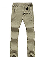 cheap -Men's Hiking Pants Trousers Patchwork Outdoor Lightweight Breathable Comfort Quick Dry Elastane Bottoms Black Dark Gray Light Grey Khaki Hunting Fishing Climbing L XL XXL XXXL 4XL