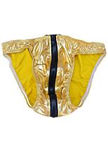 cheap -Men's 1 Piece Basic Briefs Underwear - Normal Low Waist Blue Purple Gold One-Size