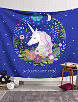 cheap -Wall Tapestry Art Decor Blanket Curtain Hanging Home Bedroom Living Room Decoration Polyester Lilac Unicorn