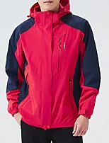 cheap -Men's Hiking Jacket Hiking Windbreaker Outdoor Patchwork Waterproof Lightweight Windproof Breathable Jacket Top Fishing Climbing Running Black Red Blue Grey Dark Blue / Quick Dry