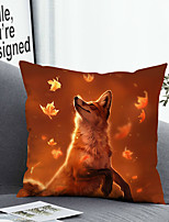 cheap -1 Pc Cushion Cover with or without Pillow Insert Double Side Print Fox Autumn38x38cm / 45x45cm Polyester