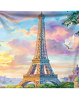 cheap -Wall Tapestry Art Decor Blanket Curtain Hanging Home Bedroom Living Room Decoration Polyester Eiffel Tower Paris Flying Pigeon
